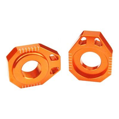 Tendeur de chaîne Scar aluminium anodisé orange pour KTM SX-F 125 02-12