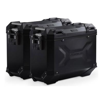 Valises latérales SW-MOTECH TRAX ADV noires 37L support PRO Honda NC 750 S/X 16-20