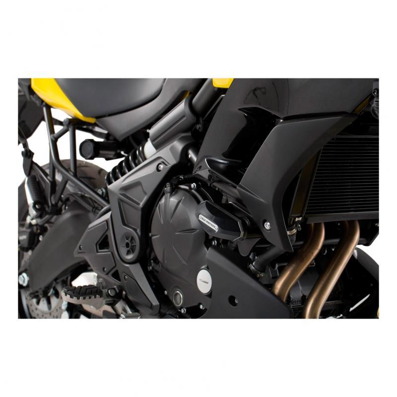 Kit de tampons de protection SW-MOTECH noir Kawasaki Versys 650 15-