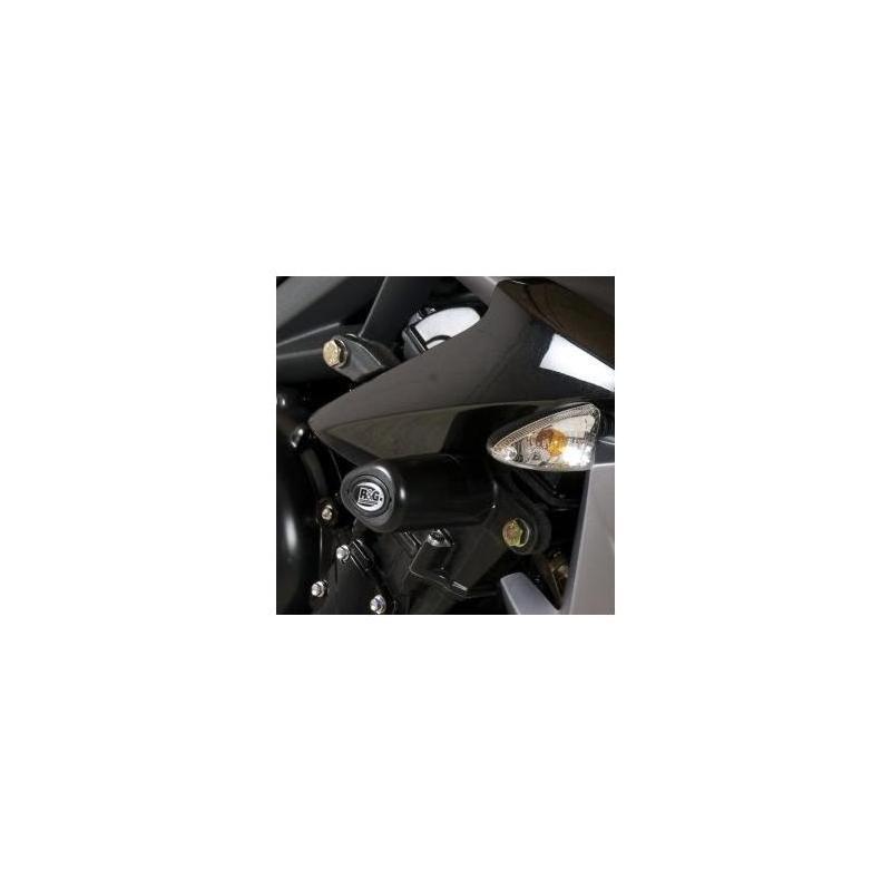 Tampons de protection R&G Racing Aero noir Triumph Street Triple 13-16