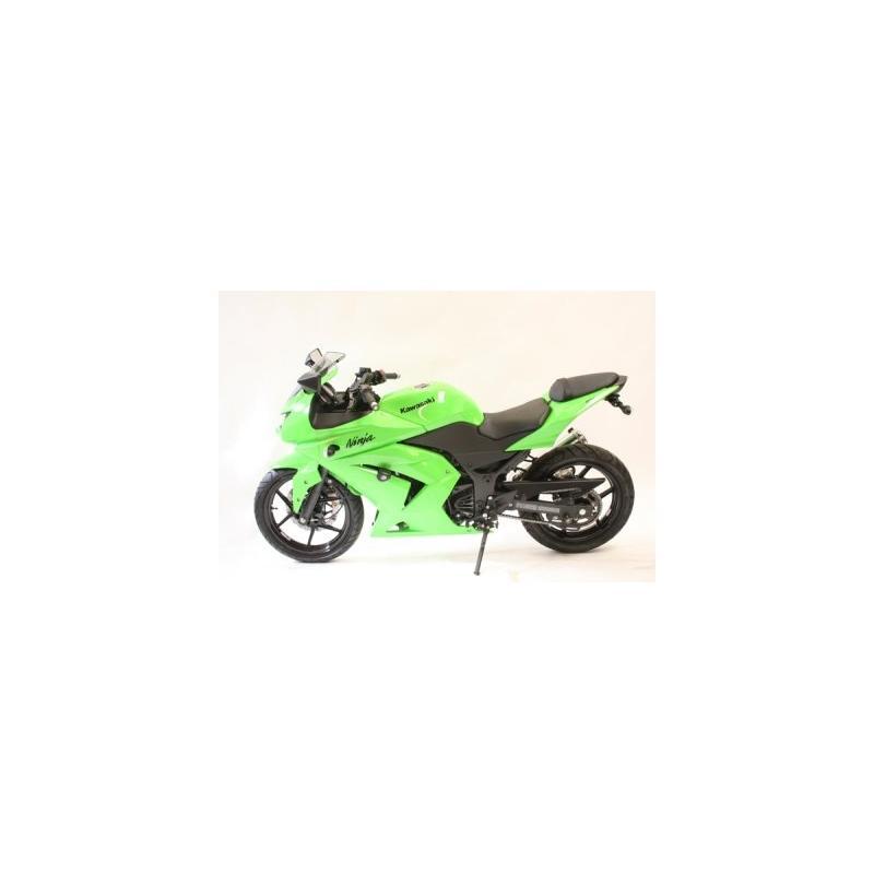 Tampons de protection R&G Racing Aero noir Kawasaki Ninja 250 08-12