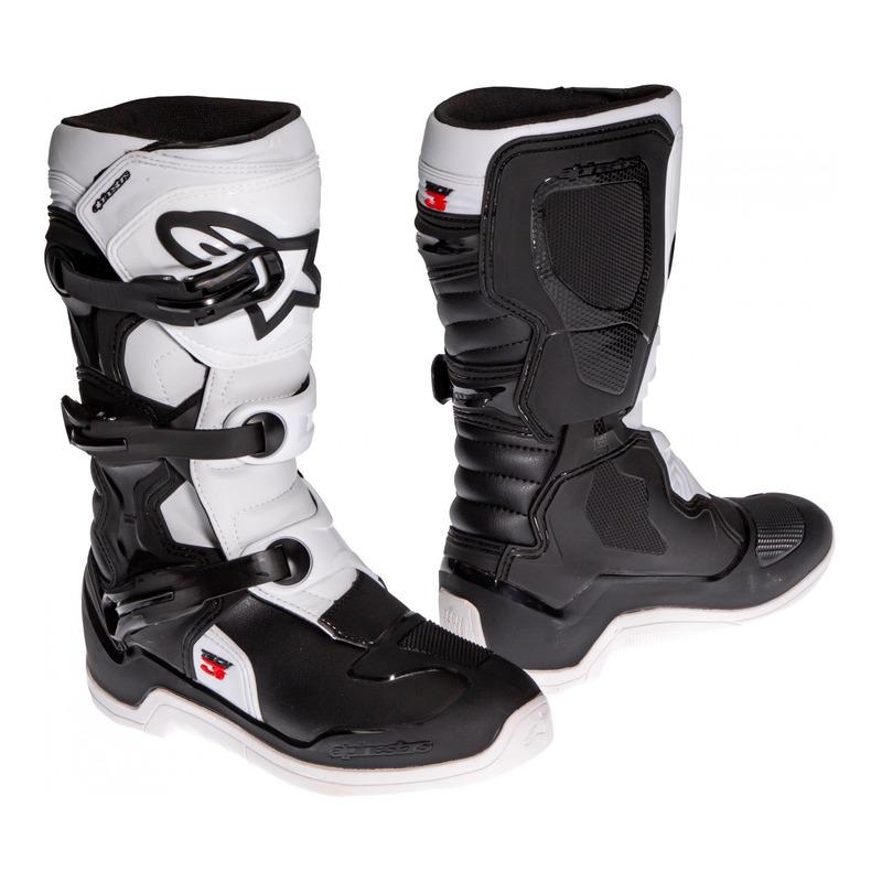 Bottes cross junior Alpinestars Tech 3S noir/blanc