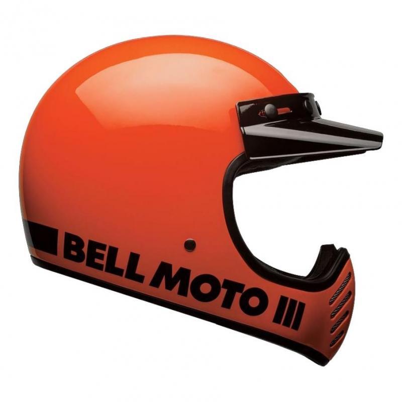 Casque Bell Moto 3 Classic orange fluo - 1