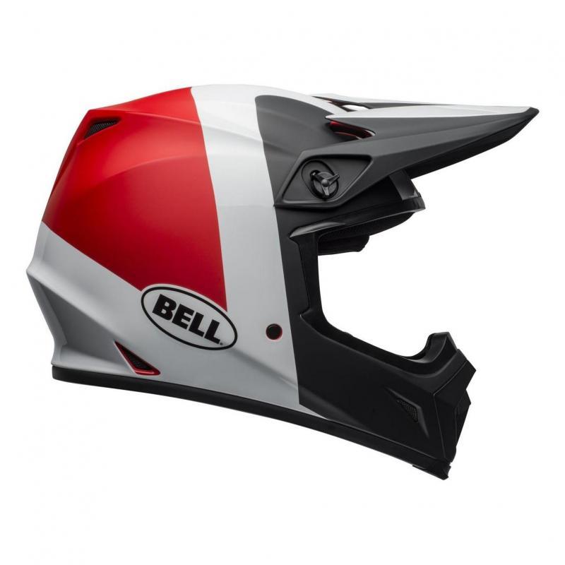 Casque cross Bell MX 9 Mips Presence noir/blanc/rouge - 4