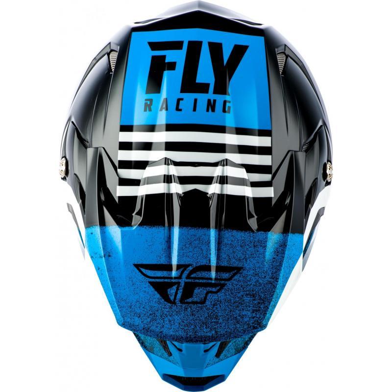 Casque cross enfant Fly Racing Toxin Mips Embargo bleu/noir - 2