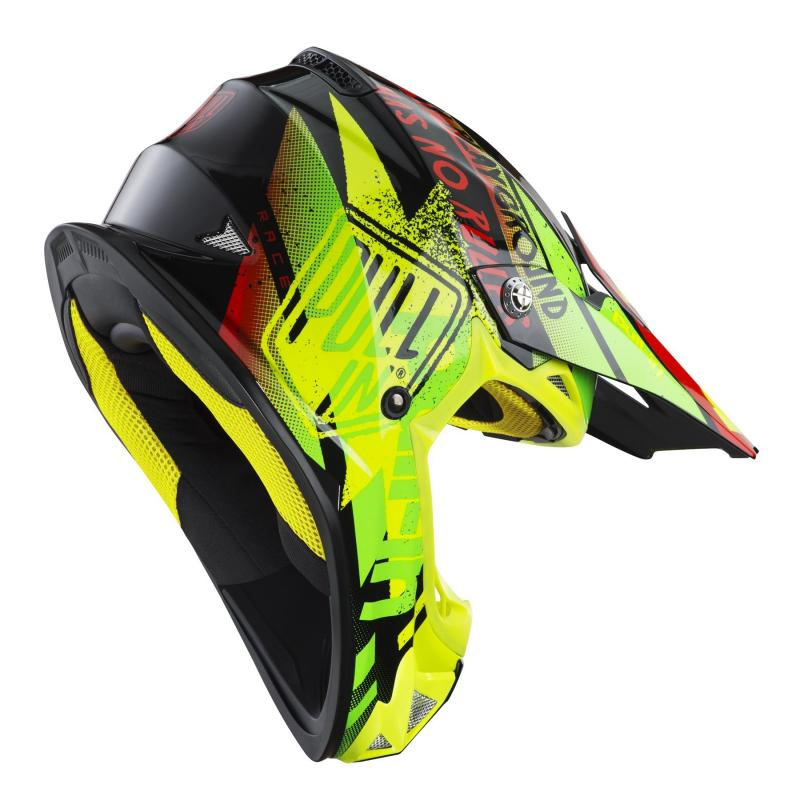 Casque cross enfant Pull-in Trash jaune fluo/lime - 1