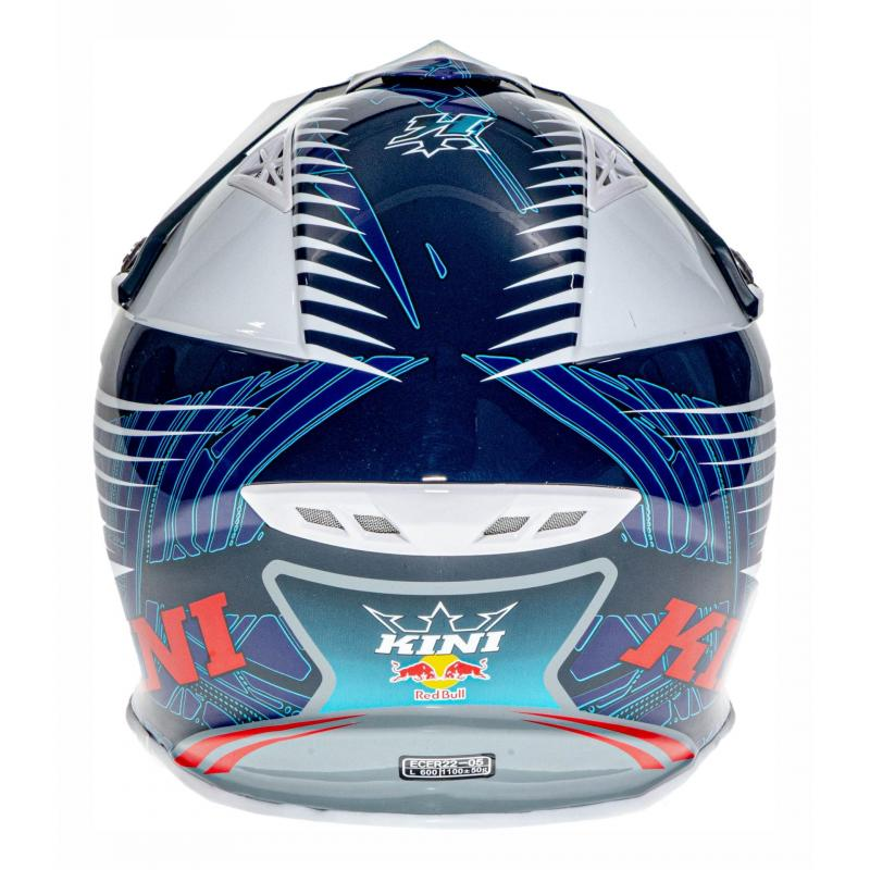 Casque cross Kini Red Bull Competition bleu marine - 4