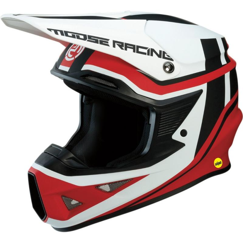 Casque cross Moose Racing FI Session Mips noir/rouge