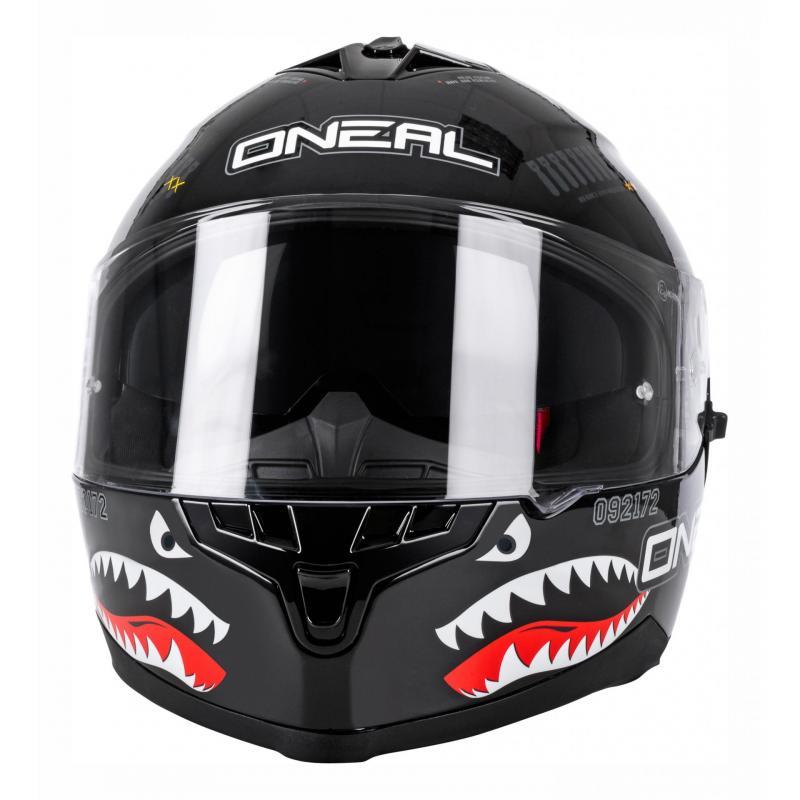 Casque intégral O'Neal Challenger Wingman Microlock noir - 5