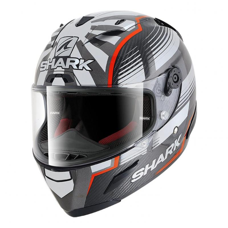 Casque intégral Shark Race-R Pro Carbon Réplica Zarco Malaysia GP carbone/rouge/anthracite