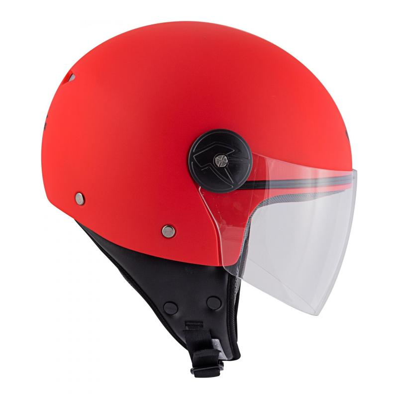 Casque jet Kappa KV40 Hawaii Basic rouge mat - 4