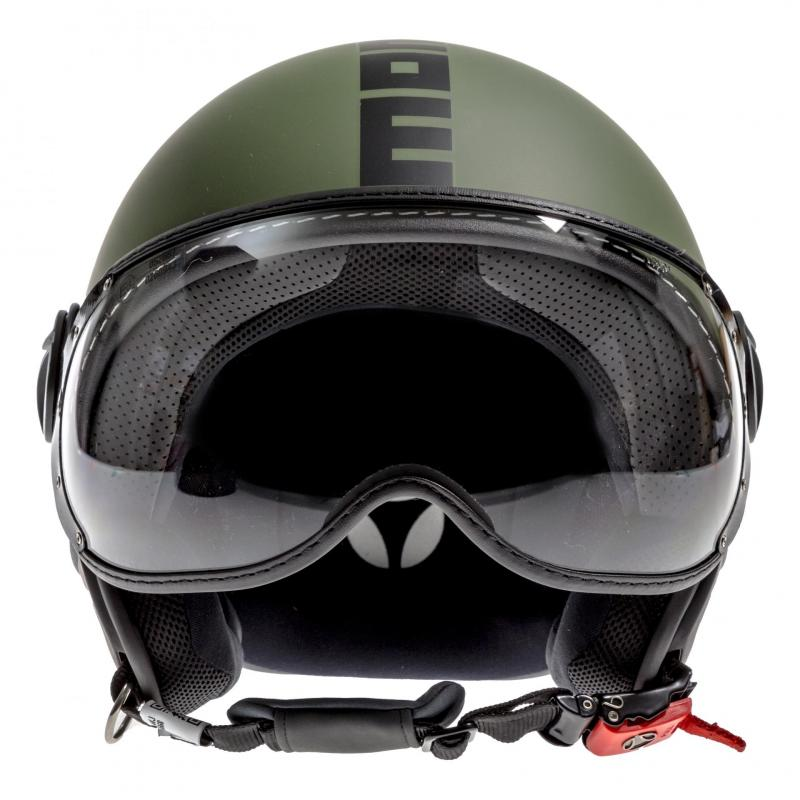 Casque jet Momo Design FGTR Classic Vert militaire mat /noir - 3