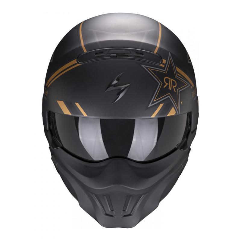 Casque jet Scorpion Exo-Combat Evo Rockstar or - 2