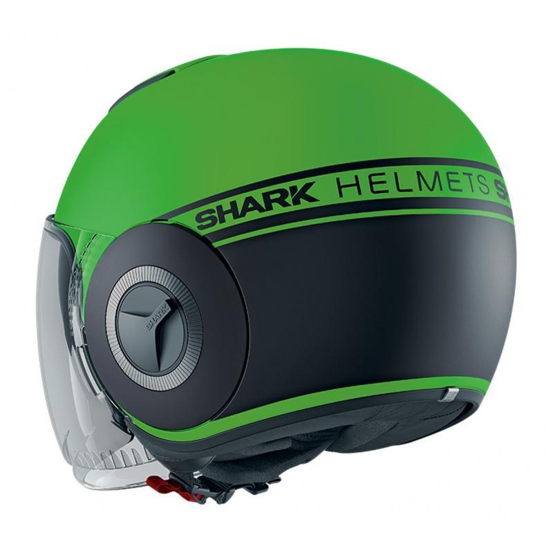 Casque jet Shark Nano Street Neon Mat vert/noir - 1