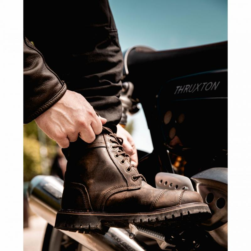 Chaussures moto RST Roadster II WP CE Vintage marron - 2