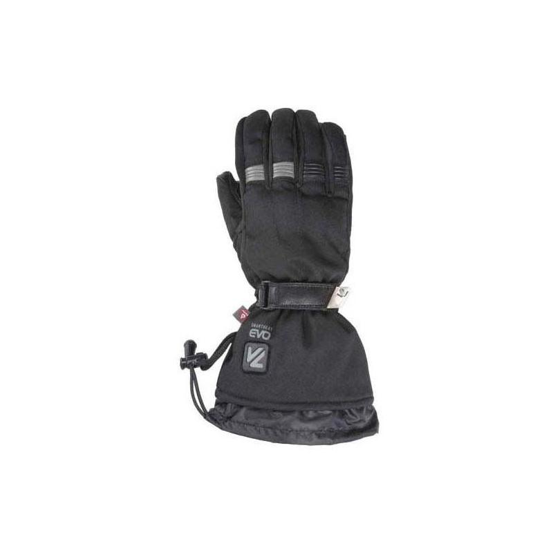 Gants chauffants cuir/textile femme V'Quattro Lady Metropolis 18 Heating noir