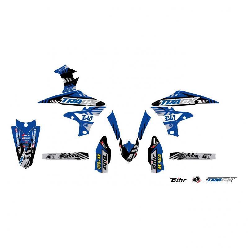 Kit plastiques UFO et kit déco Kutvek Yamaha 450 YZ-F 18-21 bleu/blanc
