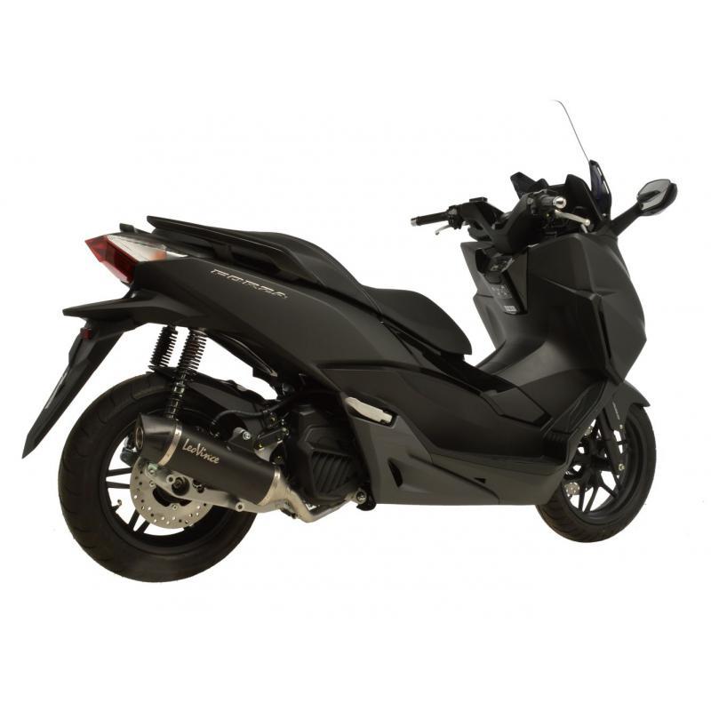 Ligne complète Leovince avec silencieux Nero inox noir casquette carbone pour Honda Forza 125 15-16