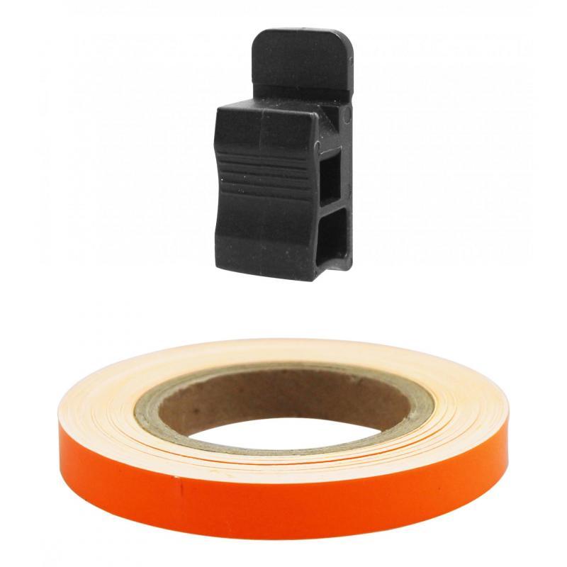 Liseret de jante Tun'R 7mm x 6m orange fluo avec applicateur - 2