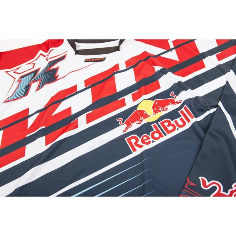 Maillot cross Kini Red Bull Vintage rouge/bleu - 2