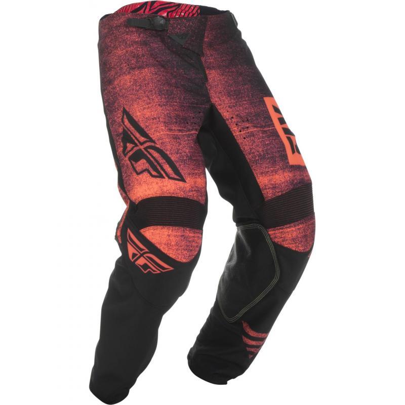 Pantalon cross enfant Fly Racing Kinetic Noiz rouge/noir
