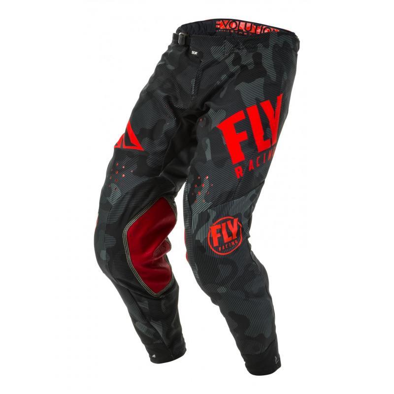 Pantalon cross Fly Racing Evolution DST Racewear rouge/noir