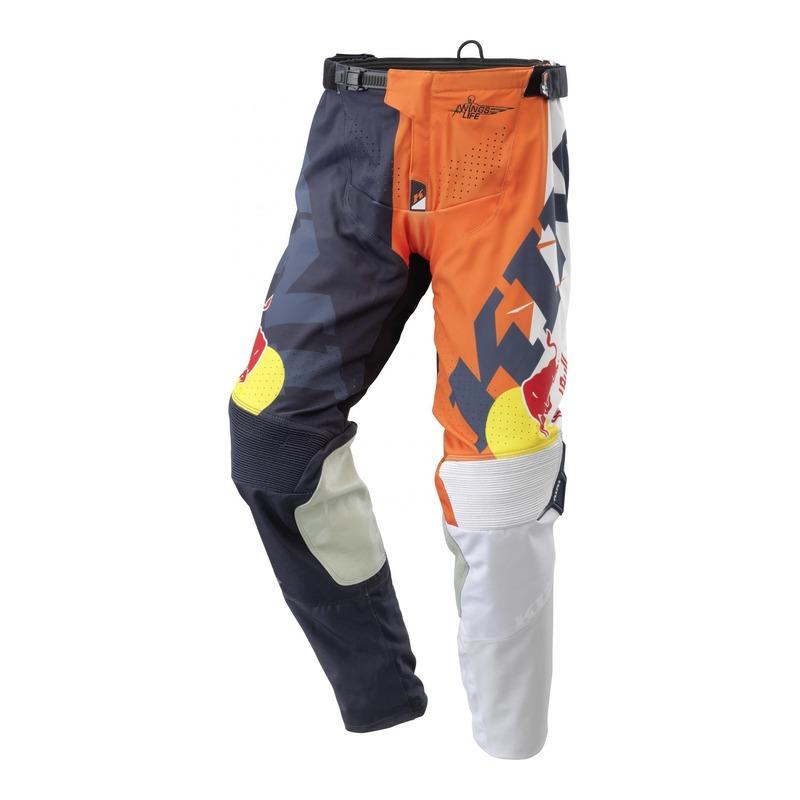 Pantalon cross Kini Red Bull Competition orange/blanc/bleu