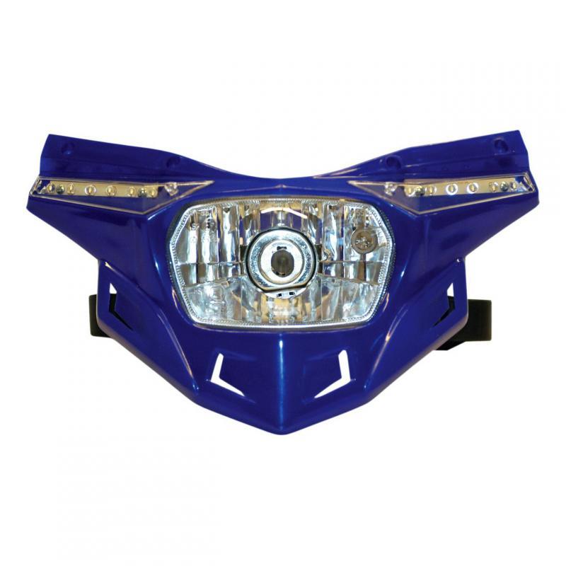 Partie inférieure de la plaque phare UFO Stealth bleu reflex