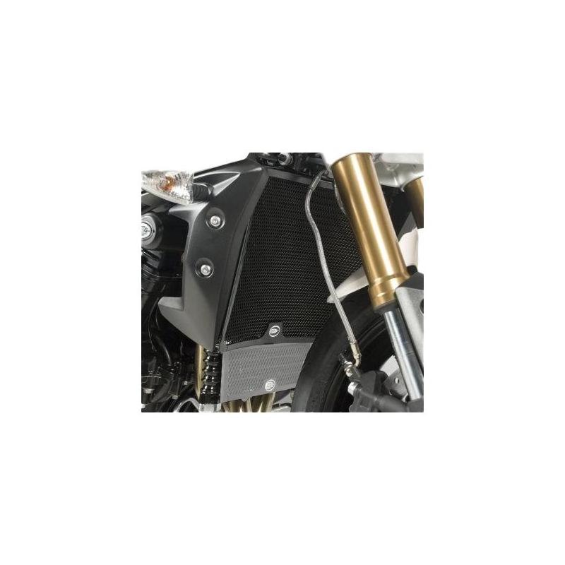 Protection de radiateur noire R&G Racing Triumph Street Triple 675 11-15