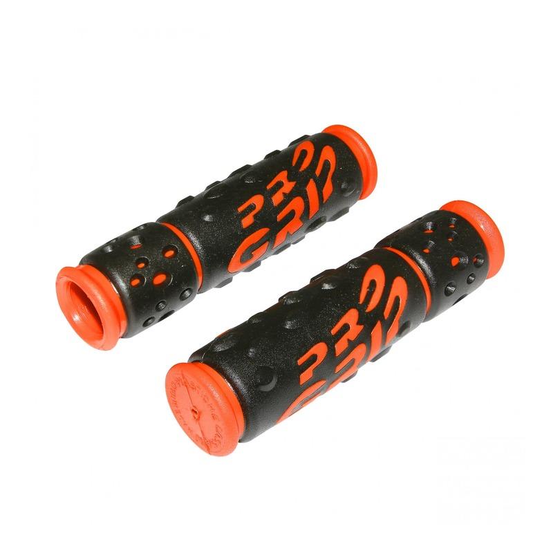 Revêtements de poignées vélo Progrip 953 noir/orange