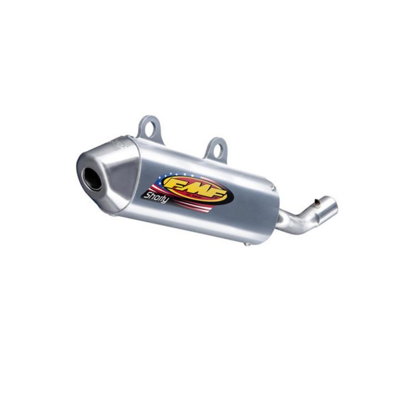 Silencieux FMF PowerCore 2 Shorty finition aluminium embout inox pour Honda CR 250 02-07