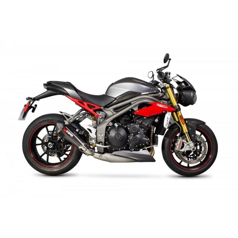 Silencieux Scorpion Serket Taper carbone Triumph Speed Triple 1050 16-17 - 1