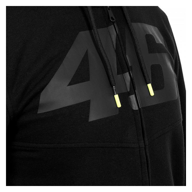 Sweat à capuche zippé VR46 Core noir - 2