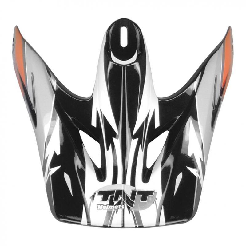 Visière casque cross viper 3 noir/blanc/orange sc05