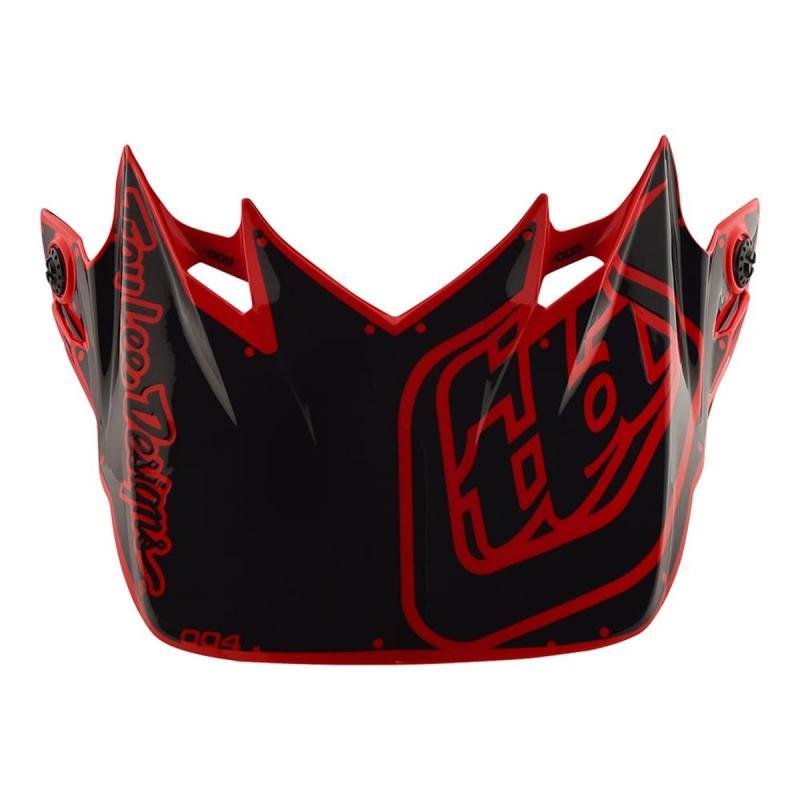 Visière Troy Lee Designs pour casque SE4 Factory polyacrylite rouge