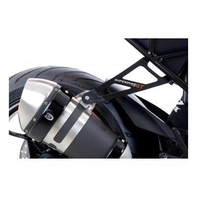 Patte de fixation de silencieux R&G Racing noire Aprilia Tuono V4 1100 15-18