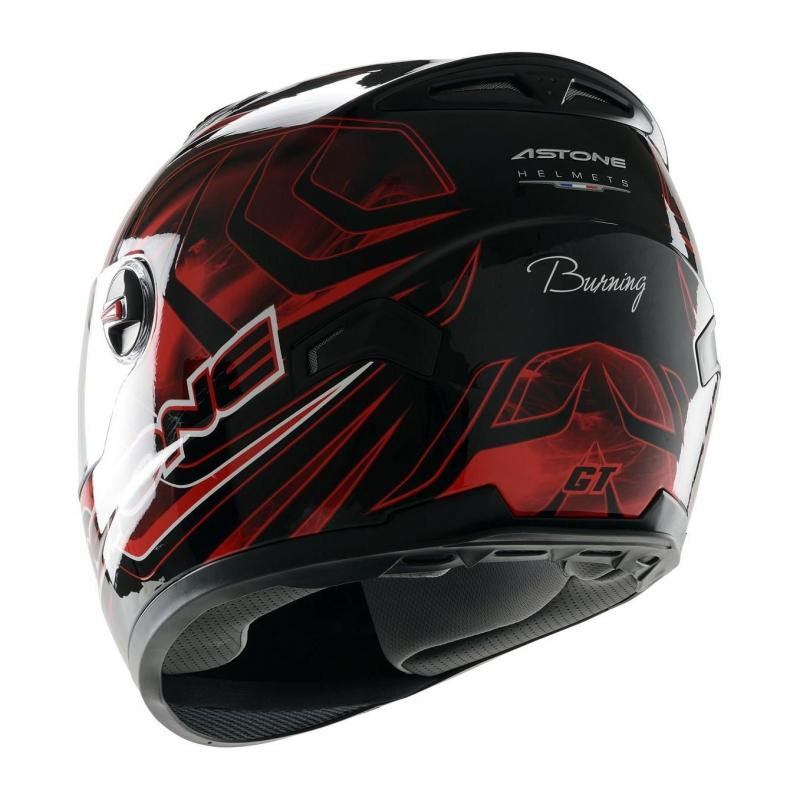 Casque Intégral Astone Gt Graphic Exclusive Burning rouge - 1