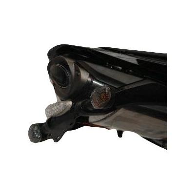 Support de plaque d'immatriculation R&G Racing noir Yamaha T-Max 530 12-16