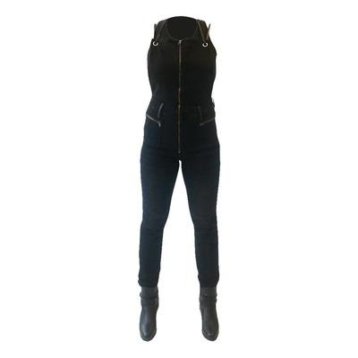 Combinaison salopette jean moto femme Overlap Zoey noir
