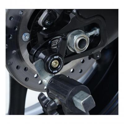Diabolos de bras oscillant R&G Racing noir sur platine Honda CBR 600 RR 05-16