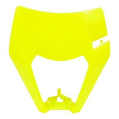 Plastique plaque phare RTech KTM 125 EXC 17-19 jaune fluo