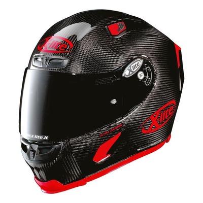 Casque intégral X-Lite X803 Ultra Carbon Puro Sport Brillant rouge/carbone