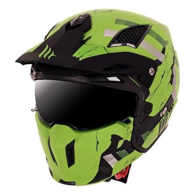 Casque transformable MT Helmets Streetfighter SV Skull vert mat