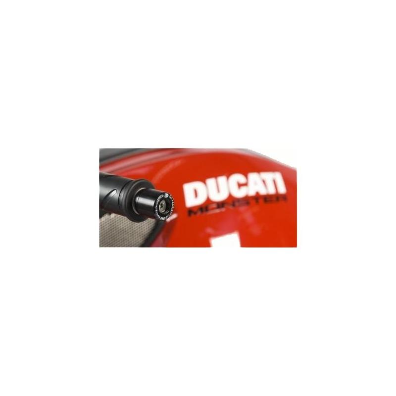 Embouts de guidon R&G Racing noir Ducati Streetfighter 848 13-15