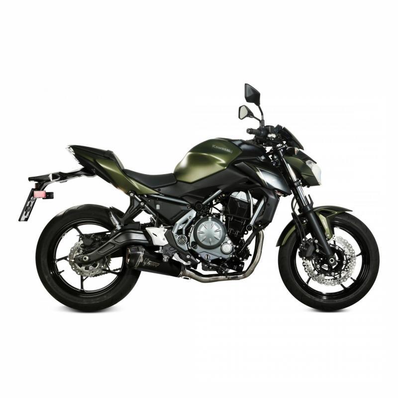 Ligne d'échappement complète Mivv Inox silencieux Delta Race noir Kawasaki Z650 17-19 - 1