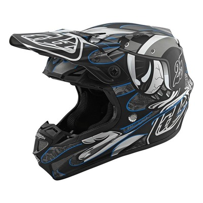 Casque cross Troy Lee Designs SE4 Composite Eyeball noir/argent