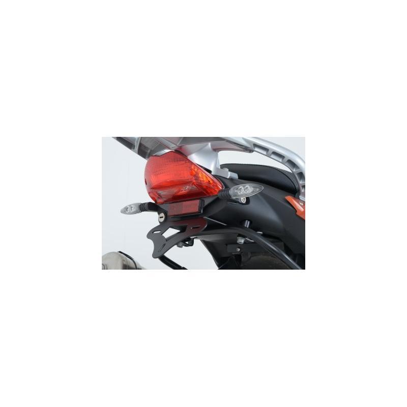 Support de plaque d'immatriculation R&G Racing noir BMW F 800 GT 13-18 avec porte-bagages