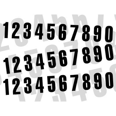 3 numéros de course Blackbird N° 0 noirs 13 x 7 cm
