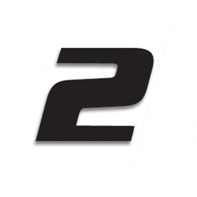 3 numéros de course Blackbird N° 2 noirs 20 x 25 cm
