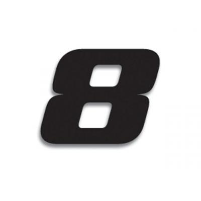 3 numéros de course Blackbird N° 8 noirs 20 x 25 cm